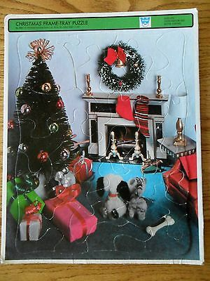 Christmas 4424 Whitman Tree Fireplace & Packages Vintage 1969 Frame Tray Puzzle ](Vintage Cardboard Fireplace)