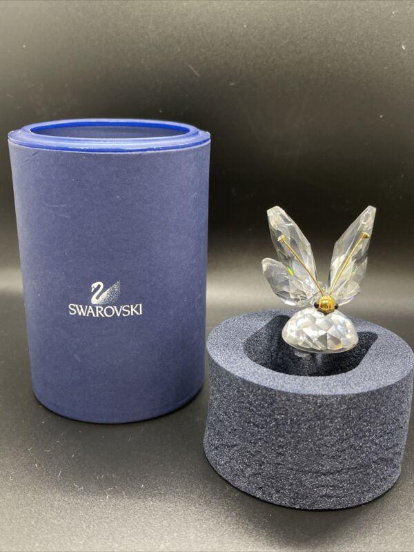 Swarovski Figurine Butterfly Large Var3 Crystal Tips on Gold Antenna, Mask Fa...