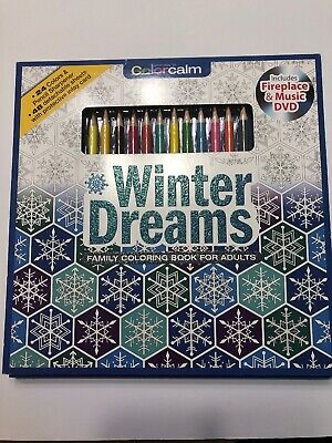 Winter Coloring Sheet (Winter Dreams-24 Color Pencils & 48 sheets & sharpener Plus DVD Adult)