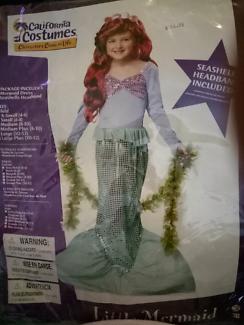 Little Mermaid costume - size 6-8