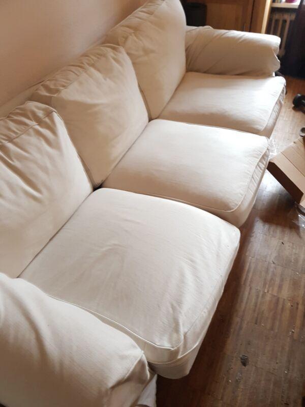 Ikea EKTORP Bezug für 3er Sofa Tygelsjö beige