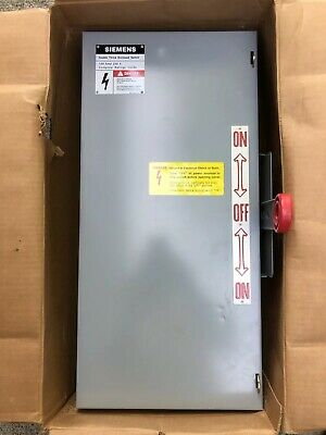 Siemens Nf323dtk Double Throw Enclosed Safety Switch 100a 240v 3 Pole Nonfusible
