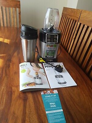 Nutri ninja Auto IQ 1000 Watts Smoothie Maker With 3 New Cups Great Condition