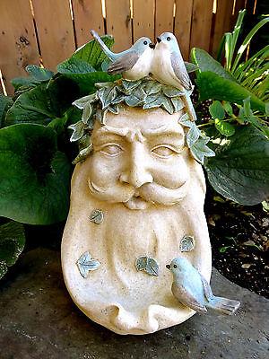 Old Man Nature Bird Seed Feeder Resin Garden Ornament12 X 6 IN.Yard Decor New