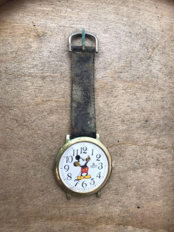 Vintage Disney Mickey Mouse Loris Wrist Watch Found In Bottom Of Box