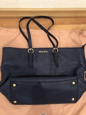 Damentasche Miu Miu, Leder, Blau
