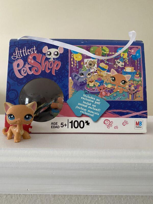Littlest Pet Shop Puzzle Shorthair Kitten/ Abby/Ranch Cat w/  Puzzle 525 Blue