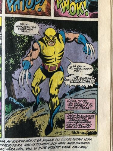 Incredible Hulk #180/181 Swedish Language Edition 1st App Wolverine Foreign/Euro