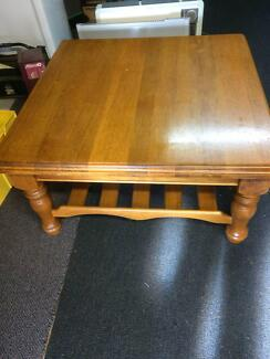 Beautiful Quality Solid coffee table. 47cm height, 90cm long x 90