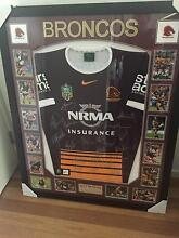 2015 Signed Broncos Runners Up Jersey- Framed Cannonvale Whitsundays Area Preview