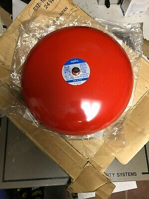 Amseco Exb-10-pv4 Red Fire Alarm Bell 12vdc 0.12a New Minor Scratch
