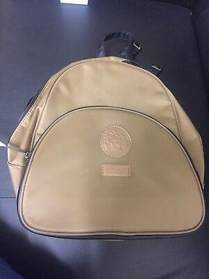 Versace Rucksack Backpack Original Designer Bag Unisex Gold / Black New Gift Uk