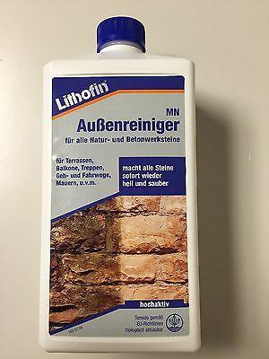 (6,49€ / 1 L) Lithofin MN Außenreiniger 1L für Natursteine, Betonwerksteine