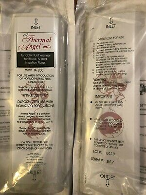 Box Of 10 Thermal Angel Blood Iv Fluid Infusion Warmer Model Ta-200