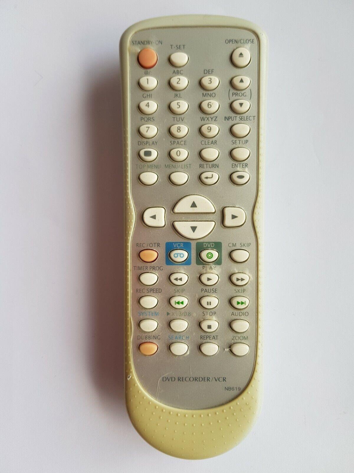 Funai NB619 DVD Videorekorder Kombination Offiziell Fernbedienung