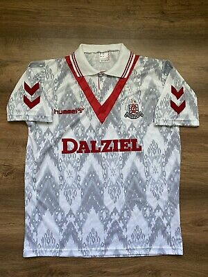 VINTAGE AIRDRIEONIANS 1992/1993 HOME FOOTBALL SHIRT JERSEY SOCCER HUMMEL image