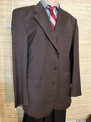 HUGO BOSS MEN'S SPORTS COAT 40S BROWN SUPER 100S PRIEST CLOTH WOOL MADE IN ITALY ()