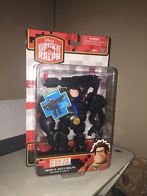 "DISNEY WRECK-IT RALPH HERO'S DUTY RALPH 6.5 ""INCH FIGURE FIX-IT FELIX JR. VHTF"