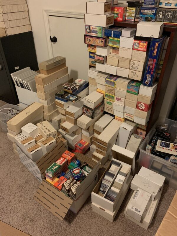 Huge Baseball Card Collection Storage Unit Find Millions Of Cards Lot Vintage