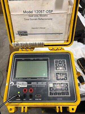 Riserbond 1205t-osp Metallic Tdr Cable Fault Locator