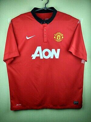 8b8bb8fa21e Manchester United jersey 2XL 2013 2014 home shirt 532837-624 Nike football  red