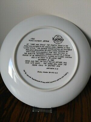 1985 'Mary And Jesus' Knowles Collector Plate,Free Shipping!