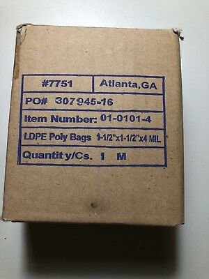 """Poly Bags Open Flat Sack 1-1/2"""" X 1-1/2"""" X 4Mil Industrial New Super Small Bags"""