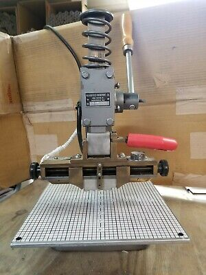 Hot Foil Stamping Machine Kwikprint 25 Lightly Used Typeholder 1x 5.75 Great