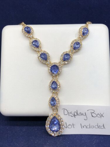Charter Club Tanzanite Crystal Stone Lariat Necklace, 17 2 Extender - $9.99