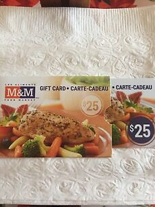 M and M meats Gift card