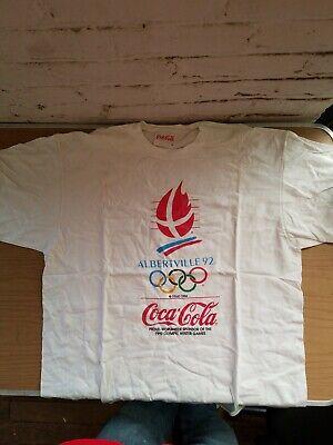 Vintage Coke Coca Cola 1992 Albertville Olympic Winter Games T Shirt XL READ