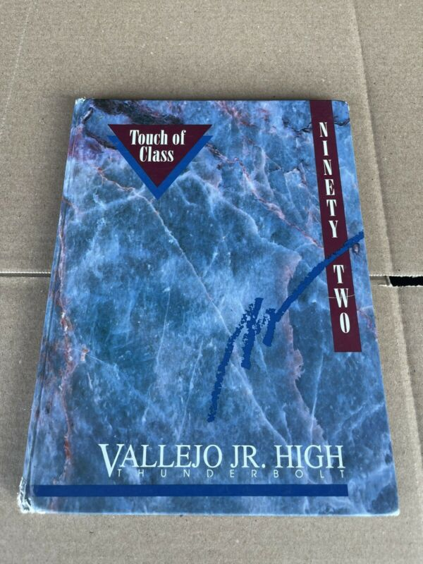 """1992 Vallejo Junior High Thunderbolt """"Touch of Class"""" Yearbook - Vallejo, Calif"""