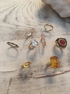 Lot of Fashion Costume Jewelry Rings Cocktail Wedding Engagement Band  Anniversa