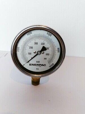 Enerpac Vtg Hydraulic Pressure Gauge Steel 4 Inches 680 Bar10000 Psi
