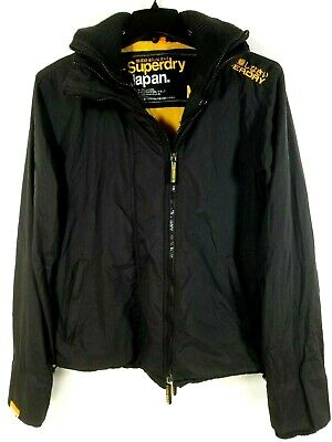 Superdry Japan Windcheater 3-Zipper Nylon Men's Jacket Black Size Medium