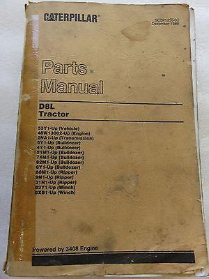 1986 - Cat Caterpillar - D8l - Tractor Bulldozer Ripper Winch Parts Manual