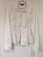 Ladies Cue Button up white shirt Alderley Brisbane North West Preview