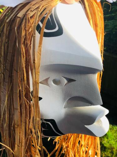 Northwest Coast Native Art  Dididhat Pook oobs Whalers Spirit Mask