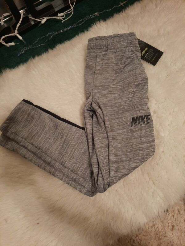 NWT Boys Nike Dri Fit  Pants sz S Gray black