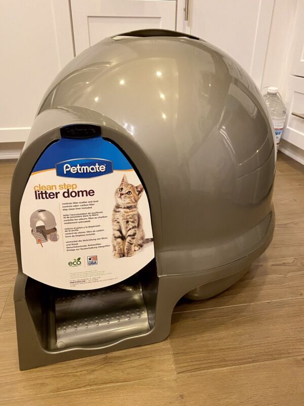 Clean Step Litter Box Kitty Enclosure Dome Cover Large