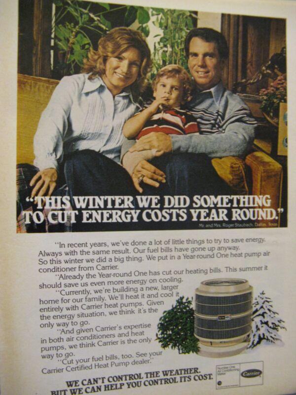 "1978 Carrier ACRoger Staubach & Wife-Dallas Cowboys Original Print Ad 8.5 x 11"""