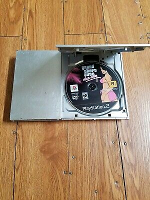 Sony PS2 PlayStation 2 Slim SILVER Console SCPH-90001 Console With GTA Vice City