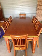 Dining Table + 8 Chairs Bligh Park Hawkesbury Area Preview