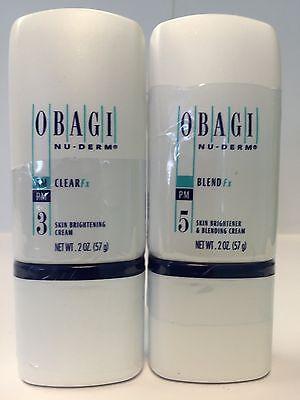 OBAGI NU-DERM CLEAR Fx and BLENDER Fx 2 oz Brand New Sealed Full Size