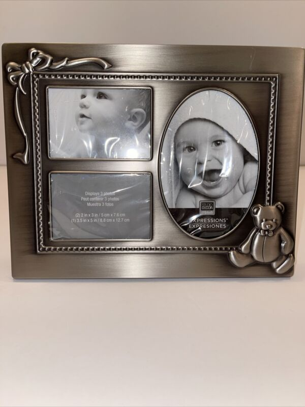 EXPRESSIONS Studio Decor Michaels Photo Frame Silver-Tone Baby Frame 11x8 New
