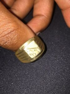 18k solid gold ring
