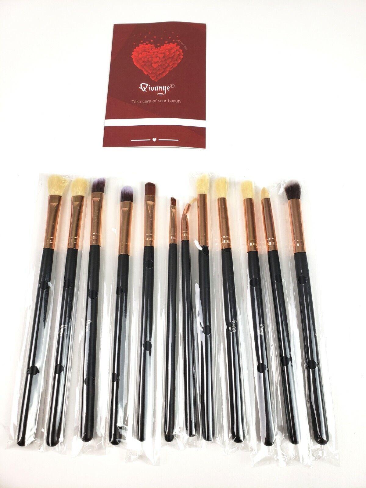 Qivange Eye Makeup Brushes Set, Synthetic Eye Brush Set Eye