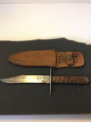 Wilbert Cutlery Co. Small Bowie Bone, Fixed Blade Knife