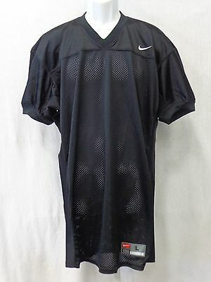 College Authentic Blank Football Jersey All Black