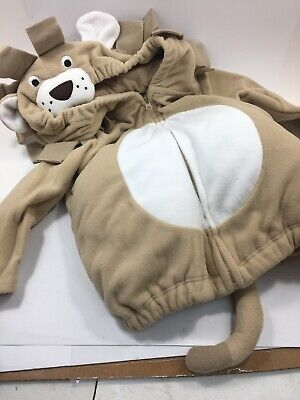New Carters Halloween Costume Beige Lion Bushy Mane Tail Size 12 Months 2 Pieces - Lion Halloween Costumes